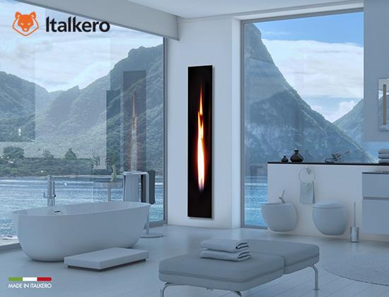 Mirror flame型燃气壁炉