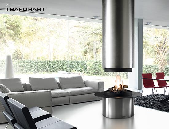 DIAMANTE-中央款燃木壁炉