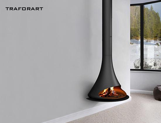 doria-贴墙款悬挂燃木壁炉