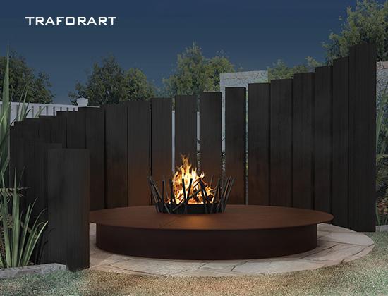 J系列户外燃木壁炉