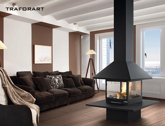 vulcano-中央款燃木壁炉