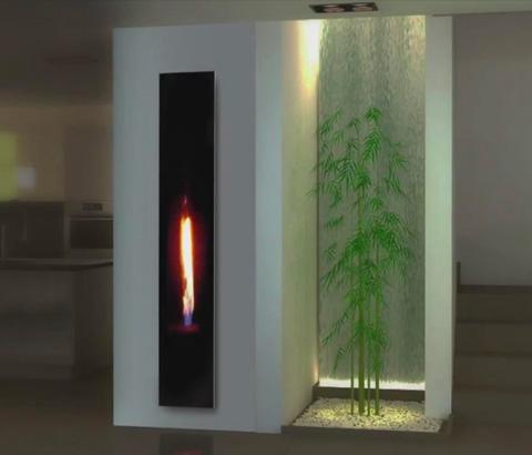 mirror flame平衡烟道系列燃气壁炉
